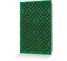 Celtic Knotwork on Green Texture Greeting Card