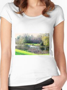 Meander in autumn in Deloraine Women's Fitted Scoop T-Shirt