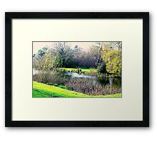 Meander in autumn in Deloraine Framed Print