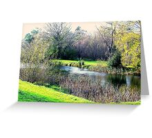 Meander in autumn in Deloraine Greeting Card