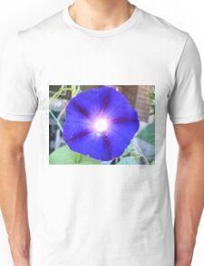Dark Blue Morning Glory Unisex T-Shirt