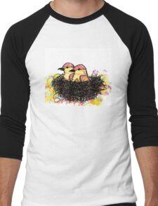 Two chicks in a nest Men's Baseball ¾ T-Shirt