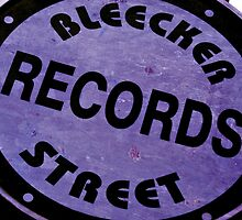 Bleecker Street Records Sign by Jamie Greene