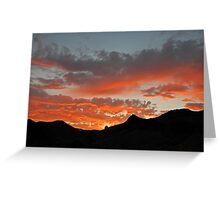 Sunset Over Mountains in Nevada (part 2) Greeting Card