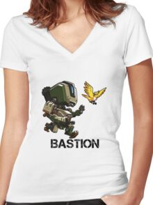 BASTION Cute Spray Merchandise Women's Fitted V-Neck T-Shirt