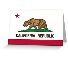 California State Flag Greeting Card