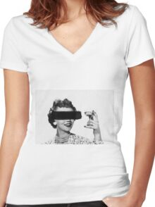Redacted. Women's Fitted V-Neck T-Shirt