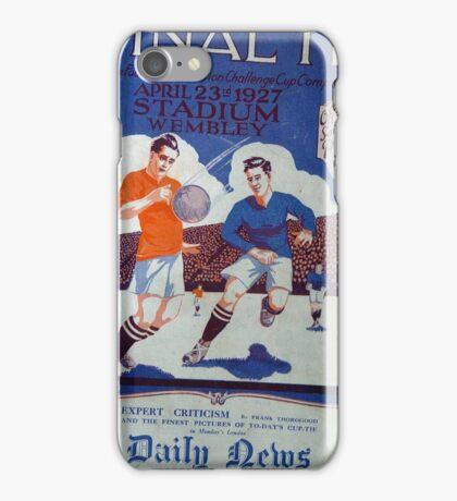 1927 Cup Final Program iPhone Case/Skin
