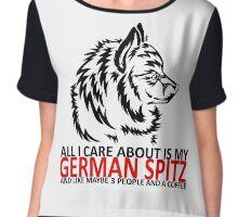 German Spitz and a coffee Chiffon Top