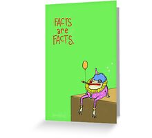 Facts Frog Greeting Card