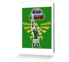 Link and the Master Sword Greeting Card