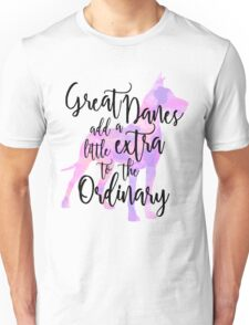 Extraordinary Great Dane Watercolor Unisex T-Shirt