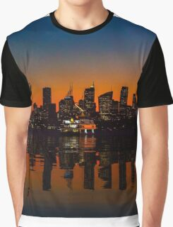 Sydney Harbour sunset Graphic T-Shirt