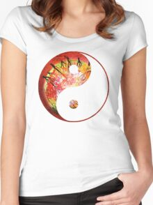 Yang_of_Gaia_1 Women's Fitted Scoop T-Shirt