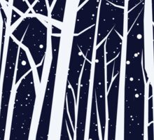 Snowy Winter Night Sticker