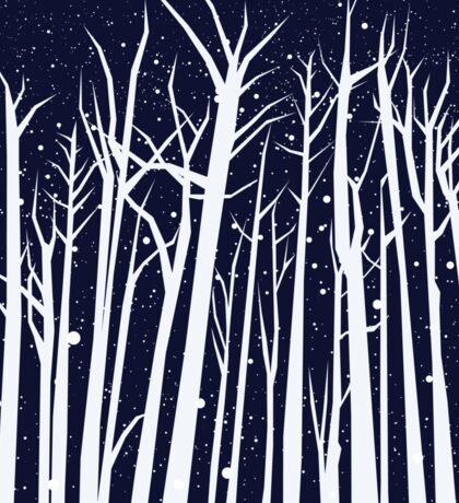Snowy Winter Night Sticker