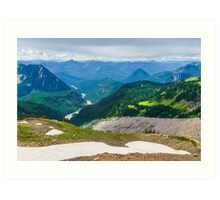 Niisqually Valley, Washington. Art Print