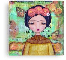 Frida - illuminate the world Canvas Print