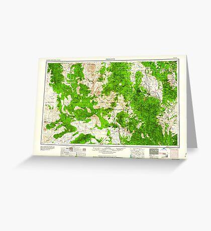 USGS TOPO Map Arizona AZ Prescott 315574 1960 250000 Greeting Card