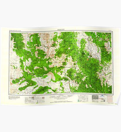 USGS TOPO Map Arizona AZ Prescott 315574 1960 250000 Poster