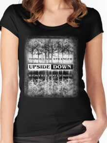 Stranger Things - Upside Down Design Women's Fitted Scoop T-Shirt