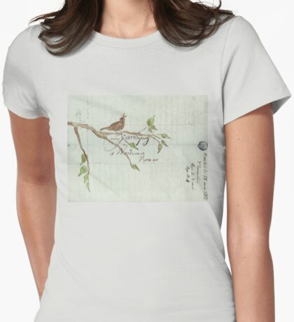 The Songbird Womens Fitted T-Shirt