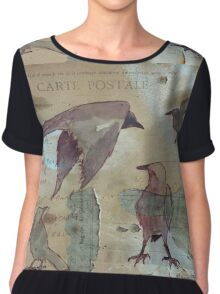A Murder of Crows Chiffon Top