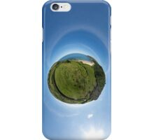 Kinnagoe Bay (as a floating green planet) iPhone Case/Skin