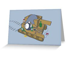 Alcoholic Armor Greeting Card