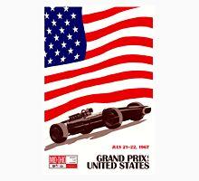 """UNITED STATES"" Vintage Grand Prix Auto Race Print Unisex T-Shirt"
