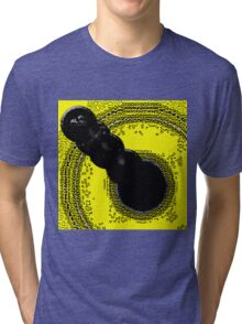 The Optical Illusion |Crop Circle Tar|  Tri-blend T-Shirt