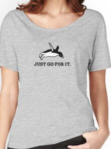 Just Go For It // Penguin Inspiration Women's Relaxed Fit T-Shirt