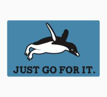 Just Go For It // Penguin Inspiration Sticker by TheCSimmons