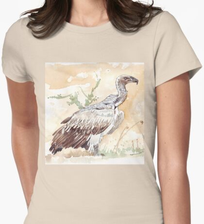 White-backed Vulture Womens Fitted T-Shirt