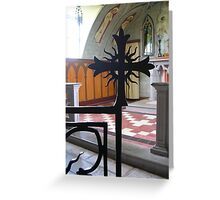 Looking at the Altar, The Italian Chapel Greeting Card
