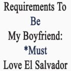 Requirements To Be My Boyfriend: *Must Love El Salvador  by supernova23