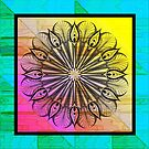 Zentangle on Psychedelic Colors by Dana Roper