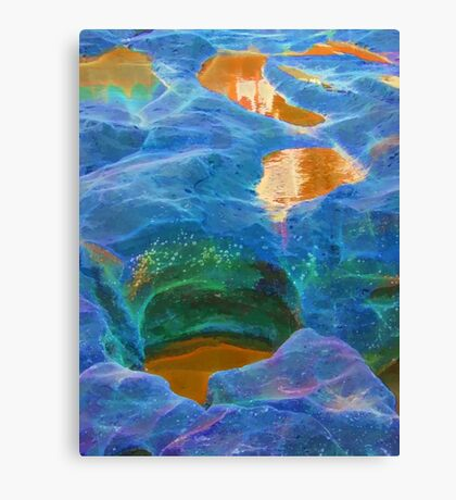 Abstract beautiful rock pools Canvas Print