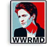 What Would Rachel Maddow do? Canvas Print