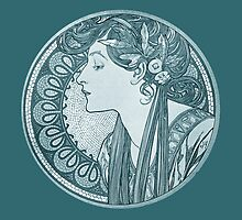 Blue Mucha Woman by Boogiemonst