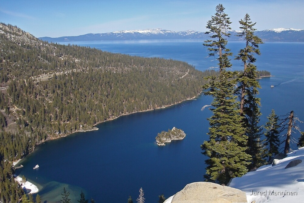 Emerald Bay From Way Above by Jared Manninen