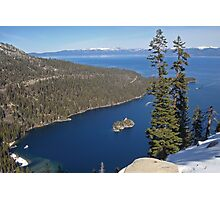Emerald Bay From Way Above Photographic Print