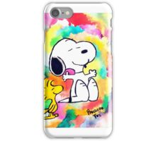 Colorful and Trippy Snoopy and Woodstock :)  iPhone Case/Skin