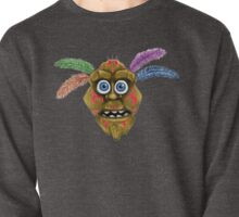 Feathered Tribal Mask Pullover