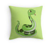 Chibi snake Throw Pillow