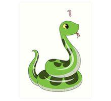 Chibi snake Art Print