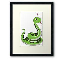 Chibi snake Framed Print