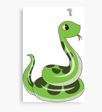 Chibi snake Canvas Print