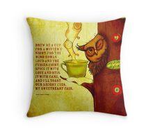 What my #Tea says to me - December 13, 2013 Pillow Throw Pillow