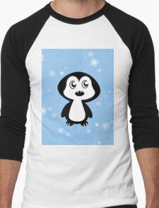 Penguin Blue Men's Baseball ¾ T-Shirt